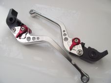 Honda ST1300 (08-12), CNC levers set long silver & red alloy adjusters F12/V00